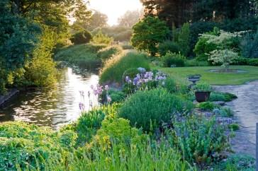 full347 June summer country garden Owner: Bernard Tickner Fullers Mill, West Stow, Suffolk UK Marcus Harpur