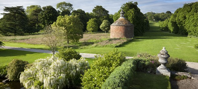The Japanese Garden created by Sir John Carew Pole (1902-1993) and the circular eighteenth-century dovecote at Antony, Cornwall.