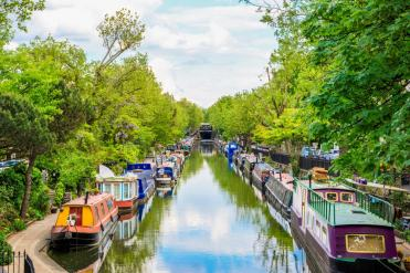 Regents-canal-Little-Venice-in-London-UK