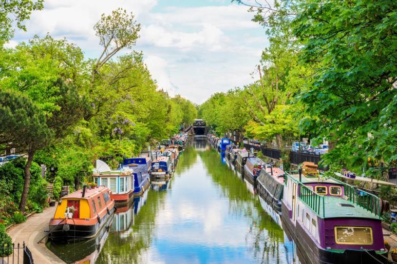Regents-canal-Little-Venice-in-London-UK