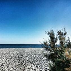 La lunghissima spiaggia di Roccella Jonica. Lo splendido ostacolo che mi separa da un'acqua cristallina e invitante. Una delle cose della mia terra che più mi manca.