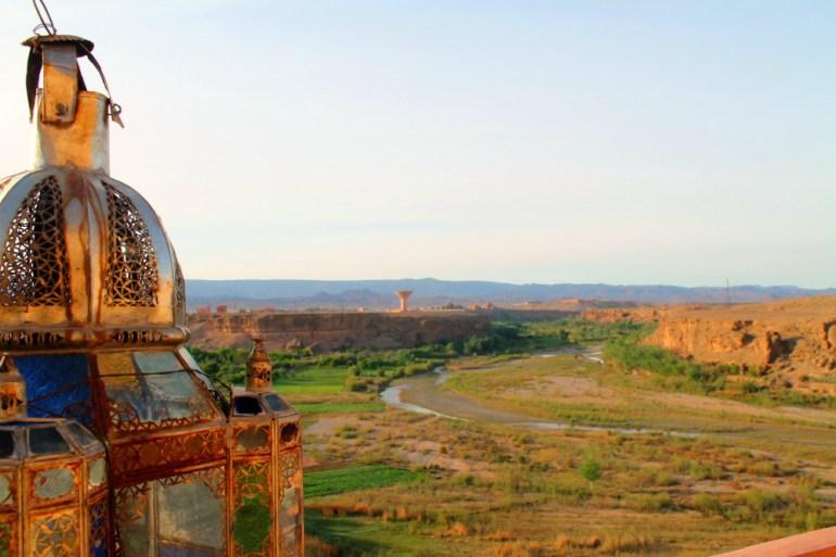 Kasbah Itran di El Kelaa M'gouna, la vista sulla Rose Valley - Marocco