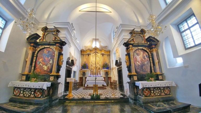 La piccola Chiesa di S. Maria Assunta a Bled, Slovenia