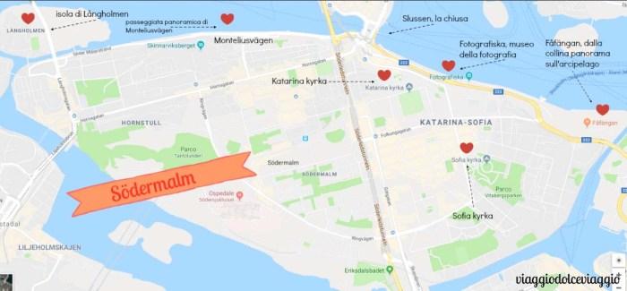 sodermalm Stoccolma Stockholm map