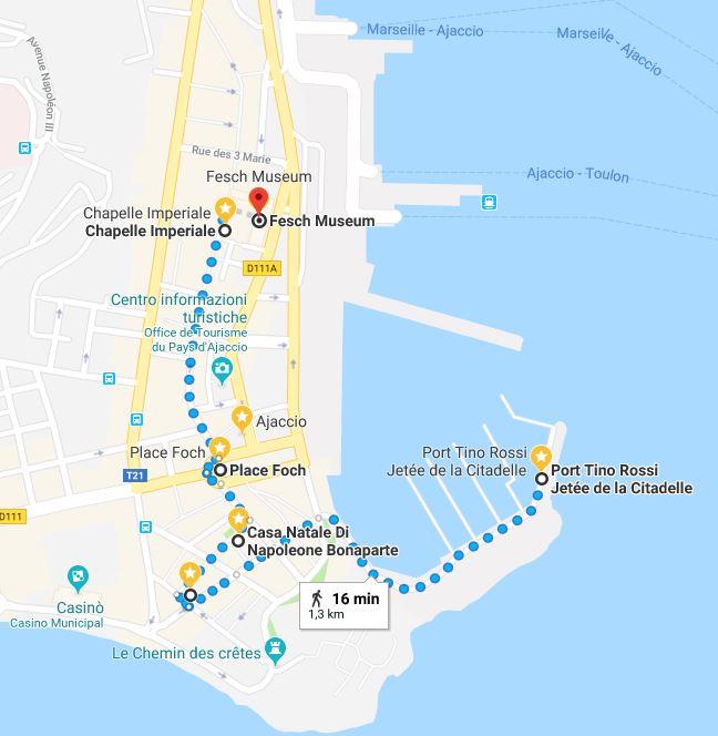 ajaccio-itinerario