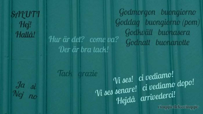 pillole di svedese lezioni alfabeto parole svedesi