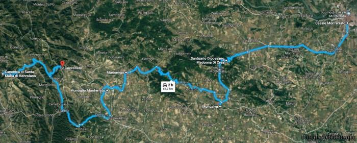 itinerario monferrato