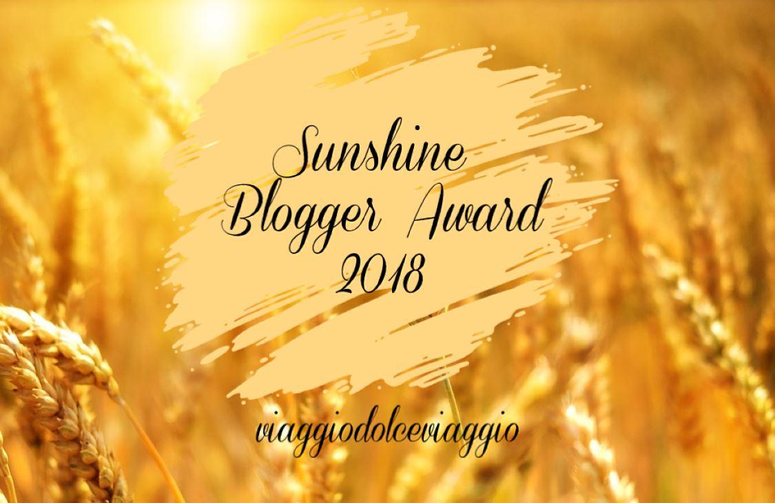 sunshine blogger award viaggiodolceviaggio