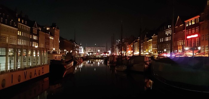 Copenhagen Nyhavn by night