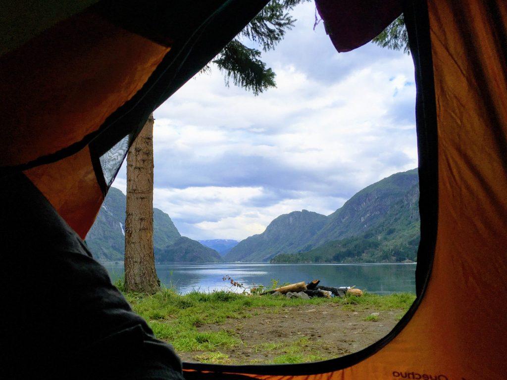 campeggio con vista