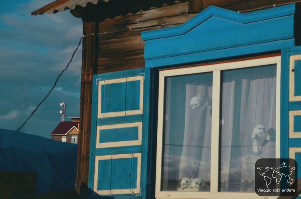 Casette di legno siberiane