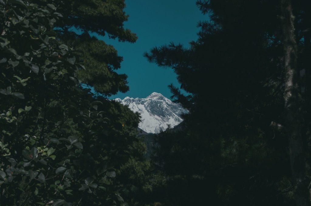 prima vista sull'Everest