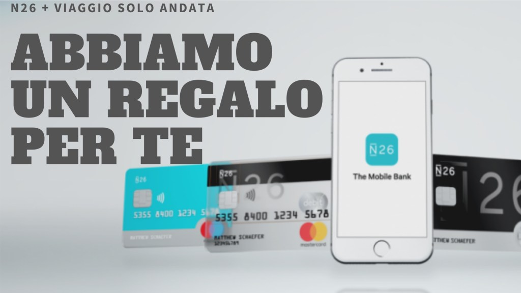 N26 gratis in regalo