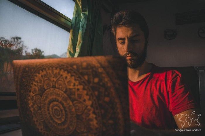 nomade digitale in treno