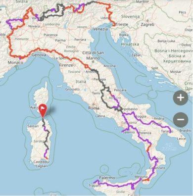 Mappa sentiero Italia