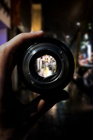 visione lente fotografica