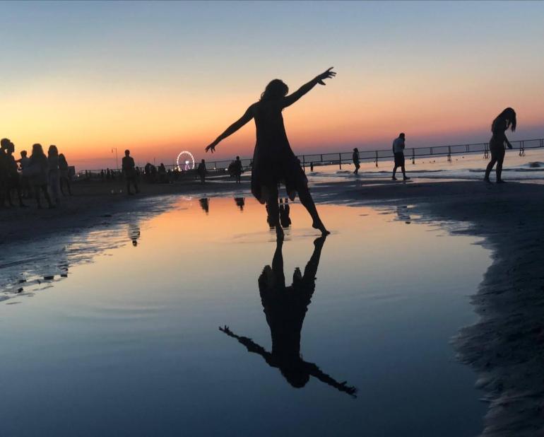 foto tramonto scattata con smartphone