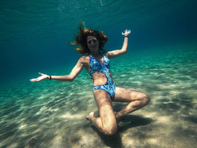 foto ilaria gopro subacquea