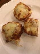 Crostini with porcini mushrooms and truffle