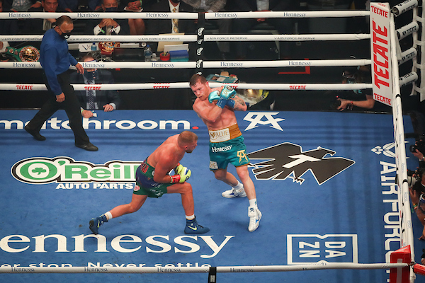 Canelo wins over saunders