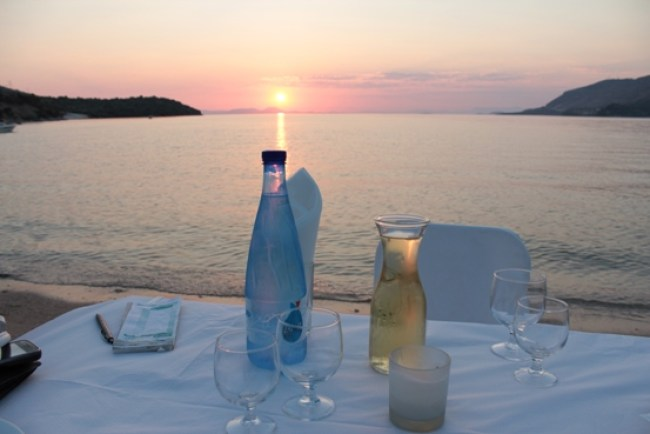 cena romantica al tramonto