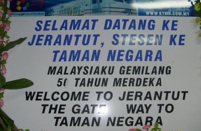 viaggiare in treno in Malesia