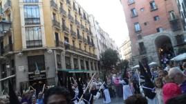 Semana Santa 2014, calle del centro de Madrid .