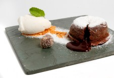Volcán de chocolate / Foto cortesía Juana La Loca Restaurante