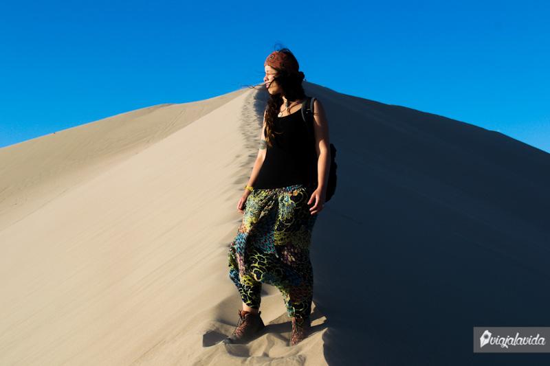 Vientos en el desierto de Huacachina.