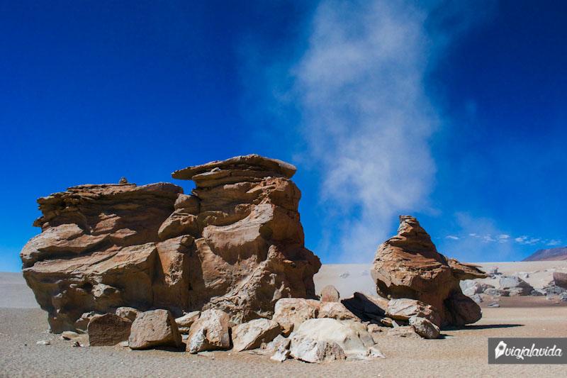 Rocas volcánicas en Bolivia.