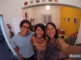 Con Ludmi nos conocimos en Quito, un año después nos recibió en Rosario, tratándonos demasiado bien.