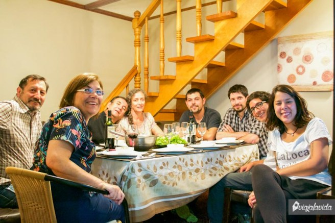 La familia se extendió, los parientes de Sergio y Chani nos recibieron varios días en Punta Arenas. Fueron extremadamente amables.