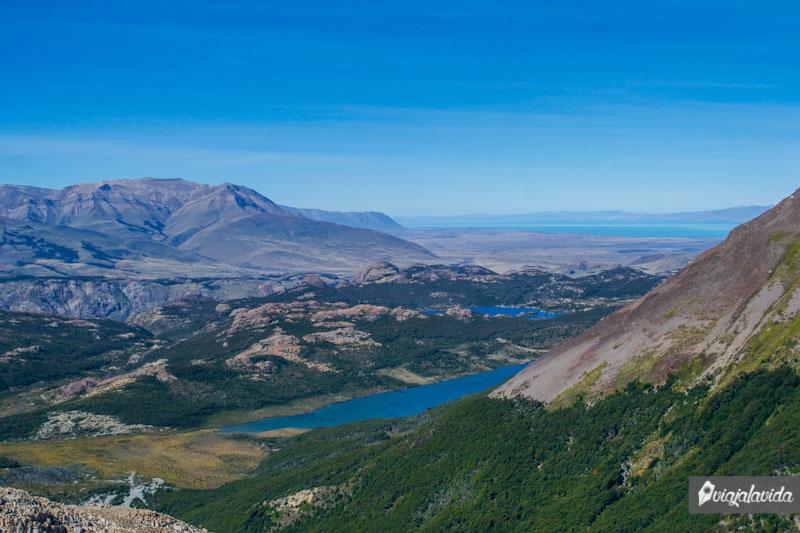 El Chaltén, desde lo alto de la montaña.
