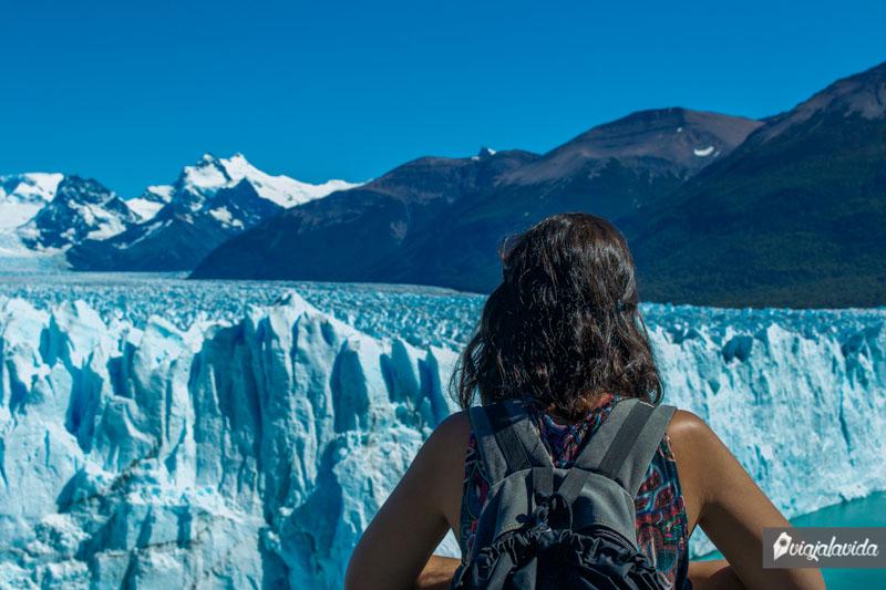 Tan cerca del Glaciar Perito Moreno