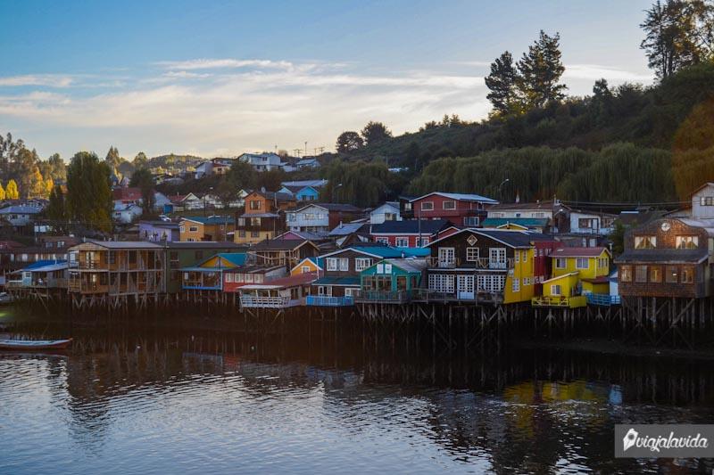 Palafitos en Castro, Chiloé.