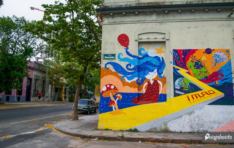 Esquina en Montevideo.