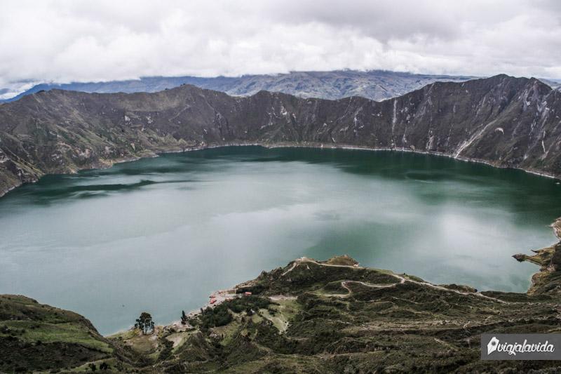 Laguna del Quilotoa en Ecuador.