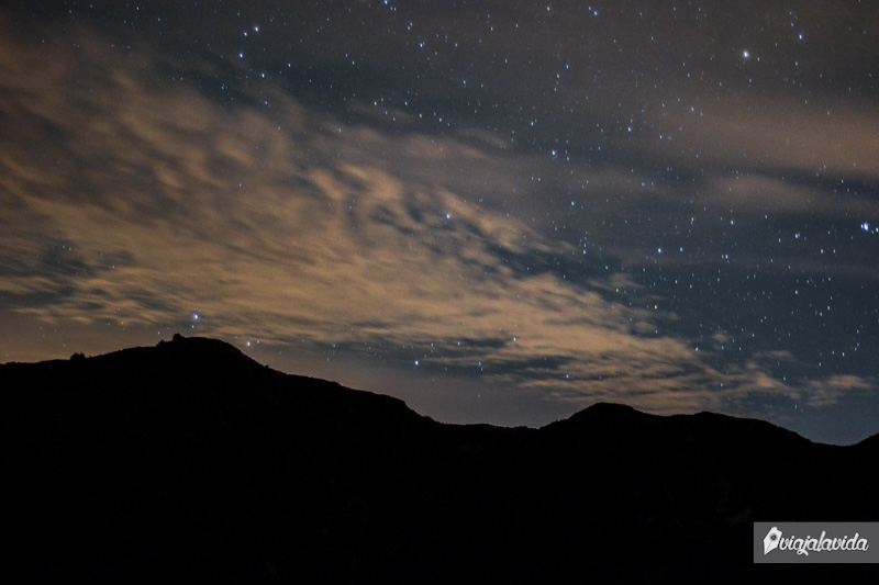 Fotos nocturnas en el Quilotoa.