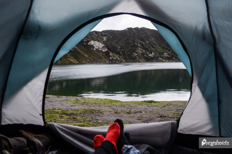 Camping en el Quilotoa.
