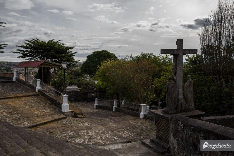 Camino a la iglesia de Belén en Popayán.
