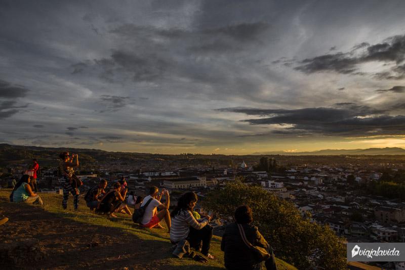 Vista de Popayán desde el Cerro el Morro.