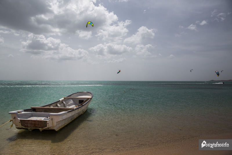 Tranquila playa en Cabo de la Vela
