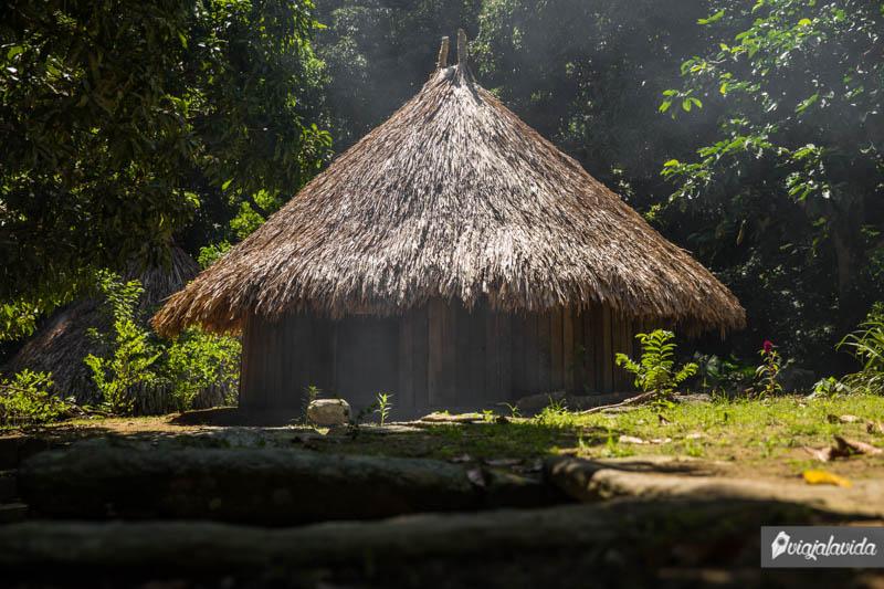 Chozas donde habitan los tayronas.