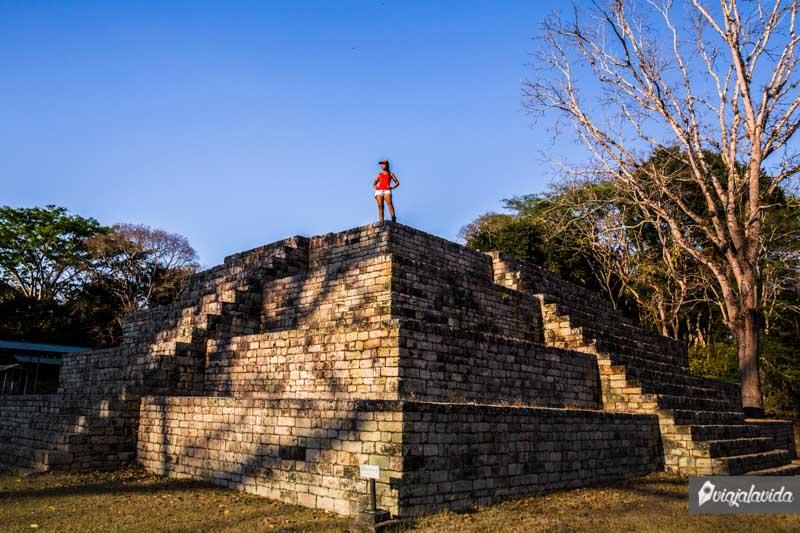Pirámide Maya en Honduras.