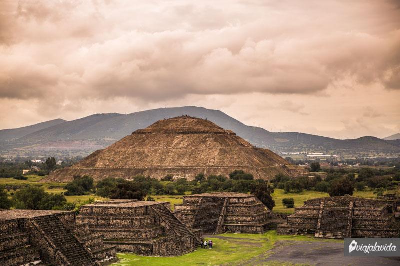 Pirámides de Teotihuacán en México.