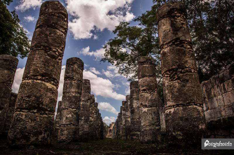 Vestigios en Chichén Itzá.