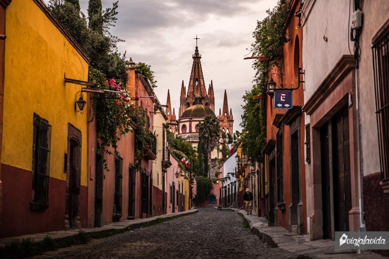 Calles empedradas del centro de San Miguel de Allende