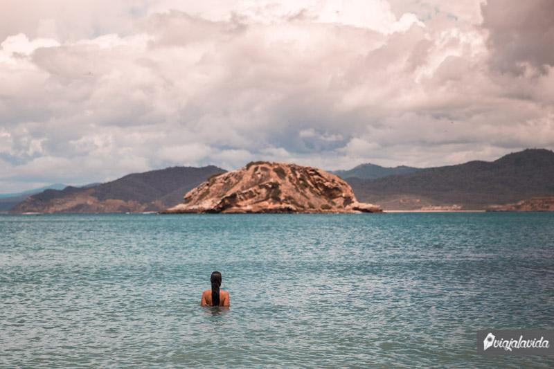 Playa Prieta, en Los Frailes, dentro del Parque Nacional Machalilla.