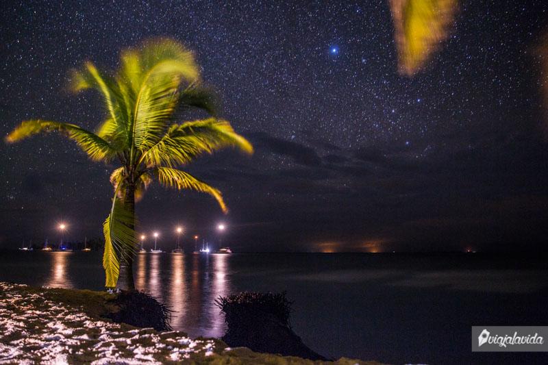 Cielo estrellado sobre las Islas San Blas.