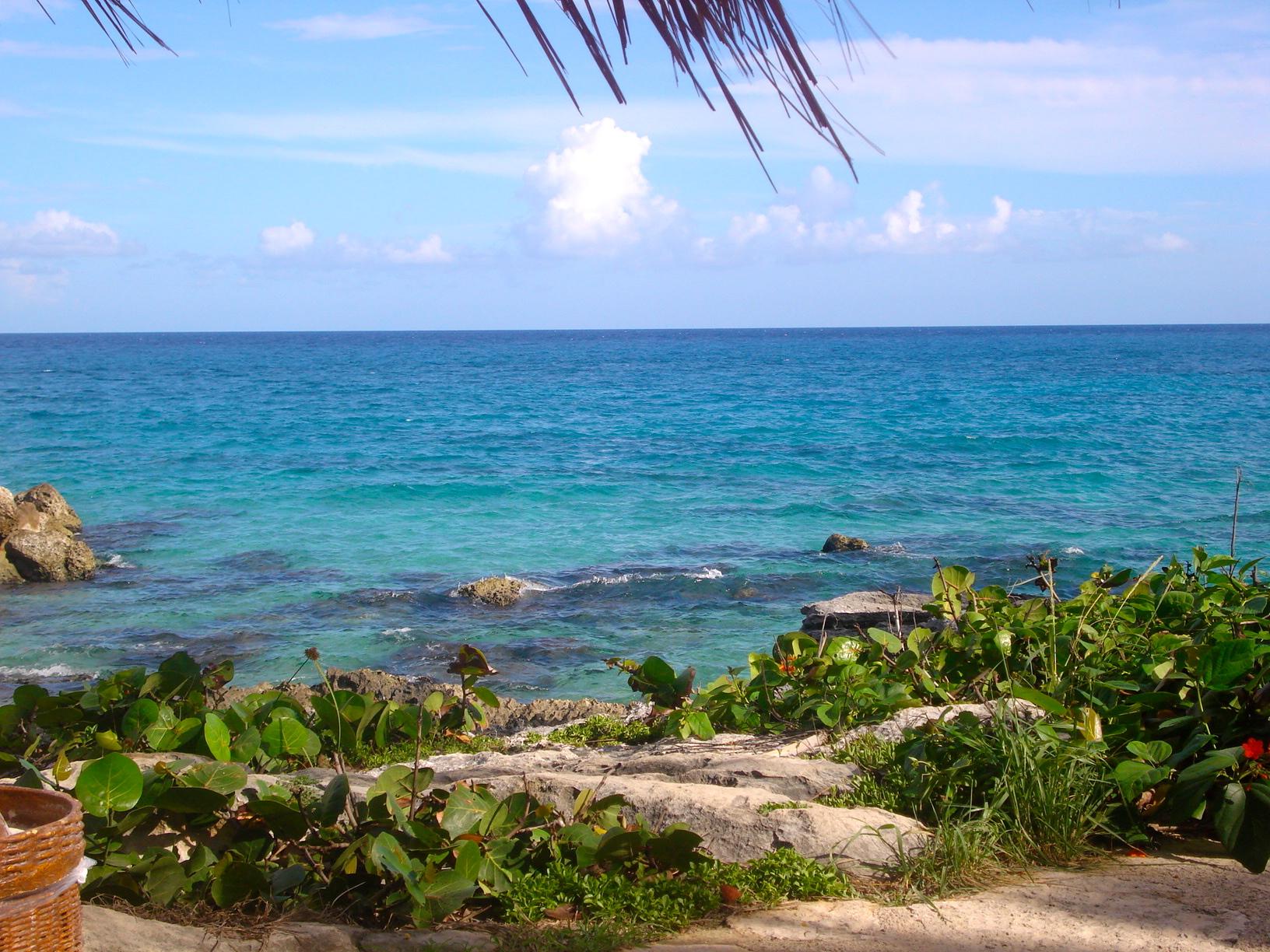 O lindo, maravilhoso e azul mar do Caribe!